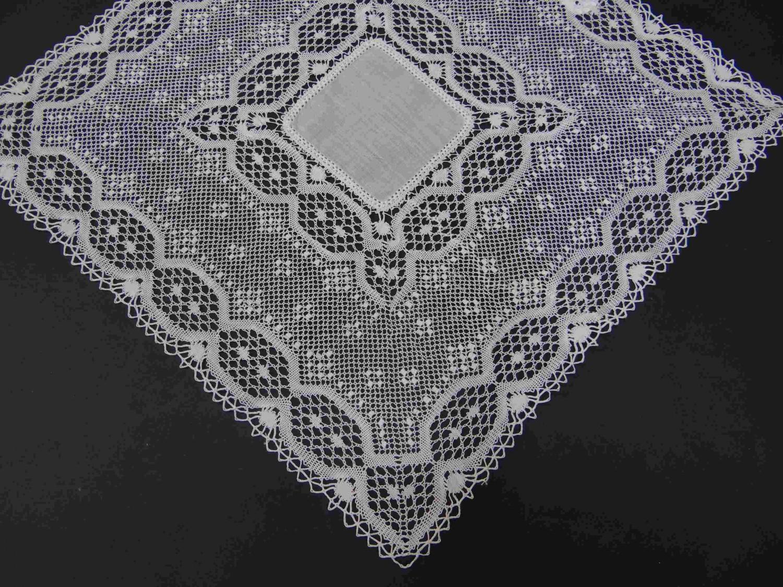 Lujoso Tejer Patrón Libre Para Pañuelos Ornamento - Manta de Tejer ...